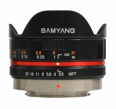 Samyang 7.5 mm f/3.5 UMC Fish-eye MFT 1
