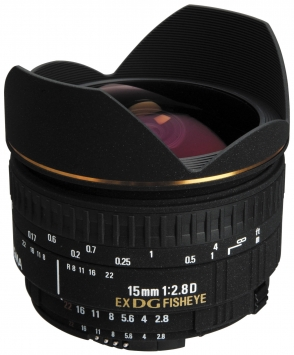 Sigma 15 mm f/2.8 EX DIAGONAL FISHEYE 1