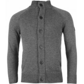 Firetrap Button Through Knitted Cardigan pánské