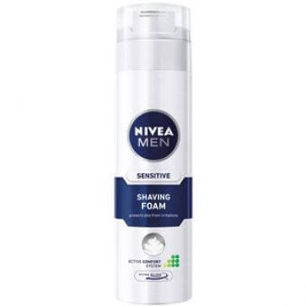 Nivea Pena na holenie Sensitive 200 ml AKCE