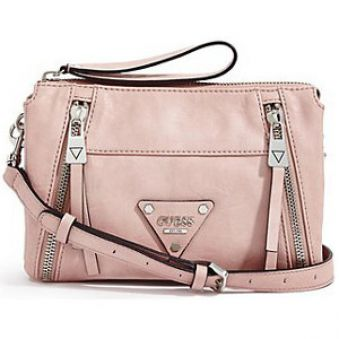 Guess Elegantná crossbody kabelka Presley Top Zip