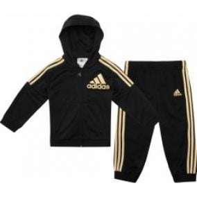 adidas 3 Stripe Poly Jogger Tracksuit Baby