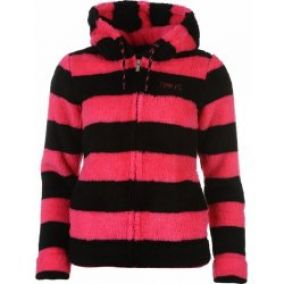 Everlast Soft Striped Zip Top Ladies black/pink