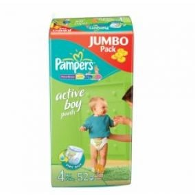 Pampers ActivePants boy 4 maxi 52ks