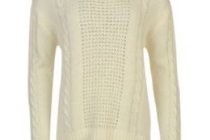 Kangol Cable Knit Jumper Ladies