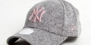 New Era 9Forty ženská Jersey NY Grey Pink