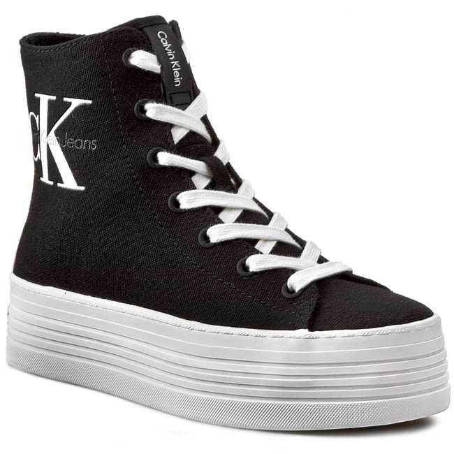 Sneakersy CALVIN KLEIN JEANS - Zabrina Canvas RE9245 Black