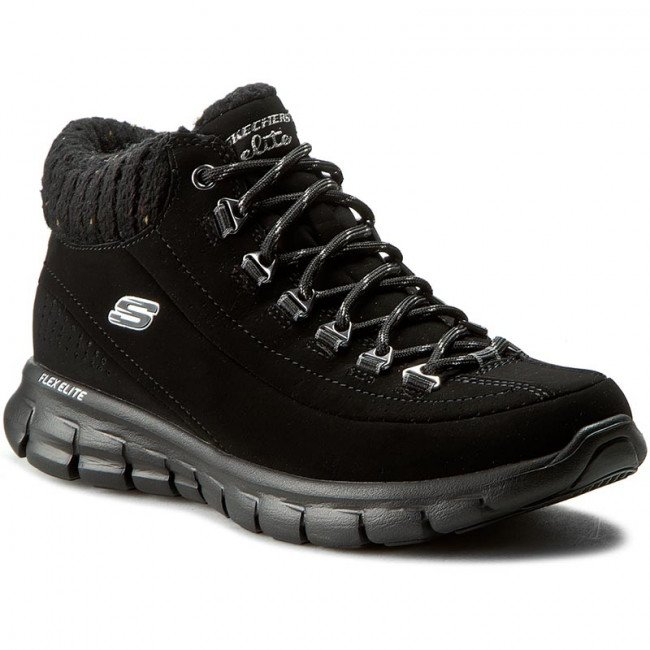 Trekingová obuv SKECHERS - Winter Nights 12122/BBK Black