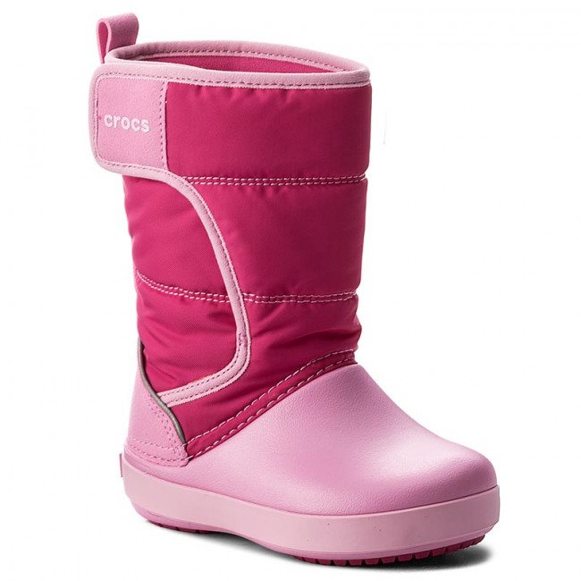 Snehule CROCS - Lodgepoint Snow Boot K 204660 Candy Pink/Patry Pink