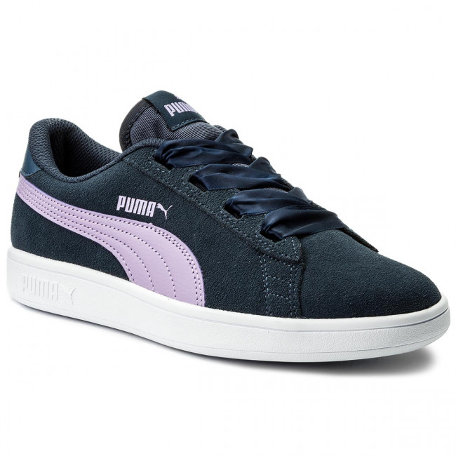 Sneakersy PUMA - Smash V2 Ribbon Jr 366003 03 Sargasso Sea/Purple Rose