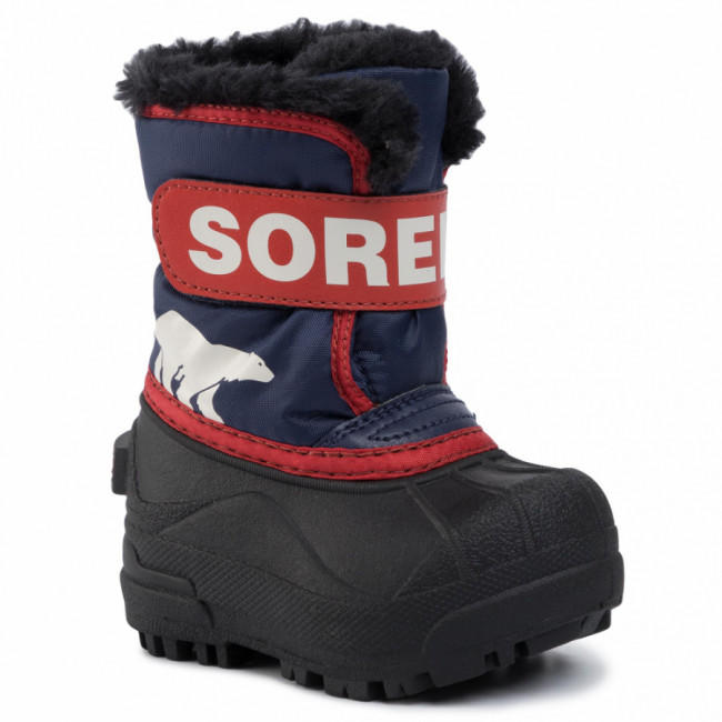 Snehule SOREL - Toddler Snow Commander NV1960 Nocturnal/Sail Red 591