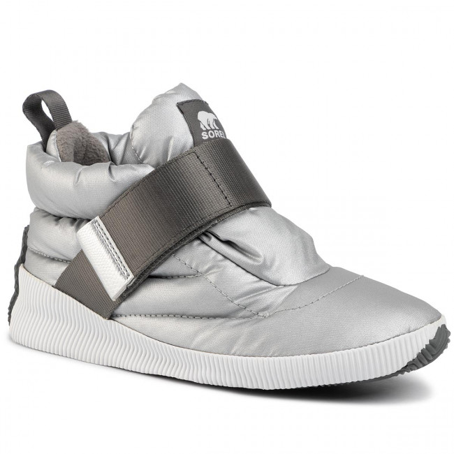 Snehule SOREL - Out N About Puffy NL3400 Pure Silver 034