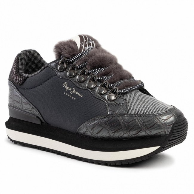 Sneakersy PEPE JEANS - Zion Fur PLS30905 Admiral 592