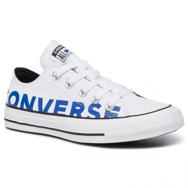 Tramky CONVERSE - Ctas Ox 165431C  White/Blue/White
