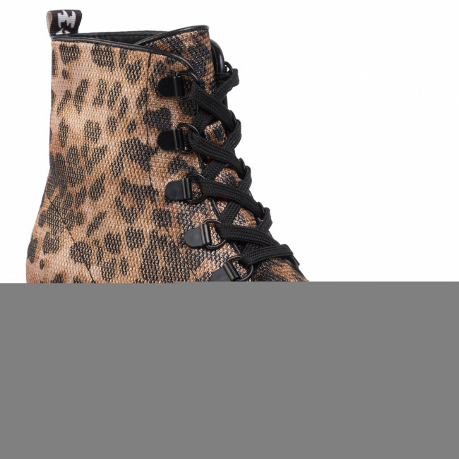 Outdoorová obuv KENDALL + KYLIE - Epic Bootie Black Leopard