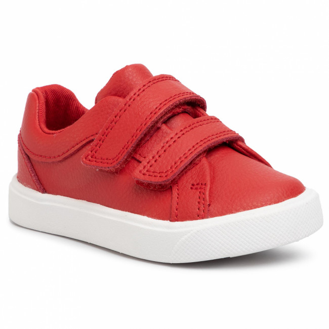 Poltopánky CLARKS - City OasisLo T 261432546  Red Leather