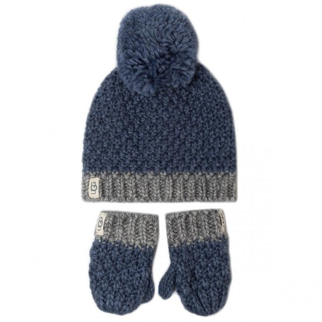 Sada čiapka a rukavice UGG - K Infant Knit Hat And Mitt Set 18802  Ensign Blue