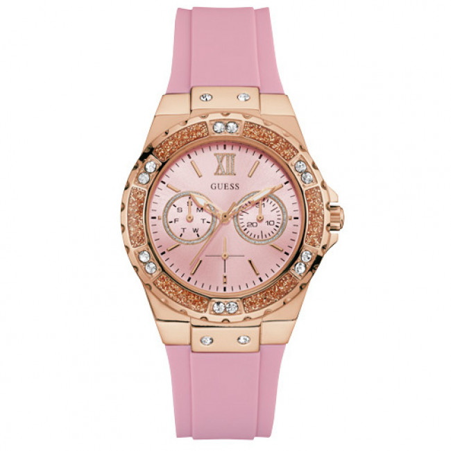 Hodinky GUESS - Limelight W1053L3  PINK/ROSE GOLD TONE