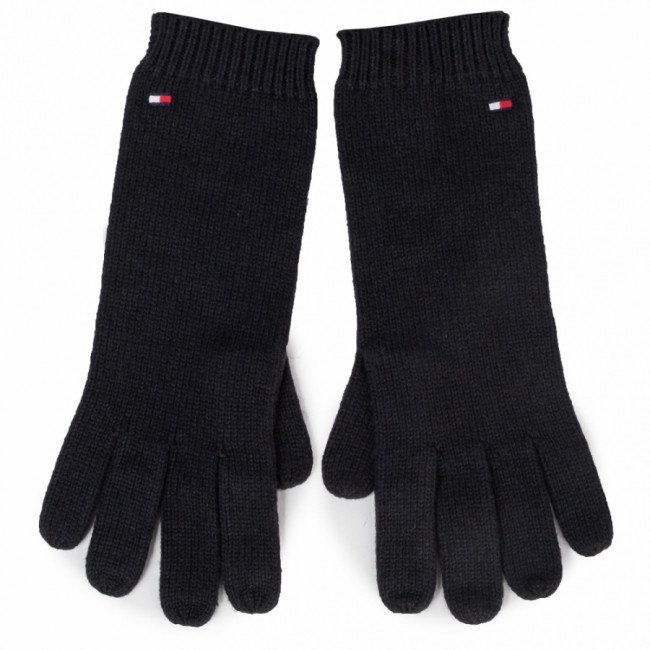 Rukavice Dámske TOMMY HILFIGER - Flag Knit Gloves AW0AW07197 BDS