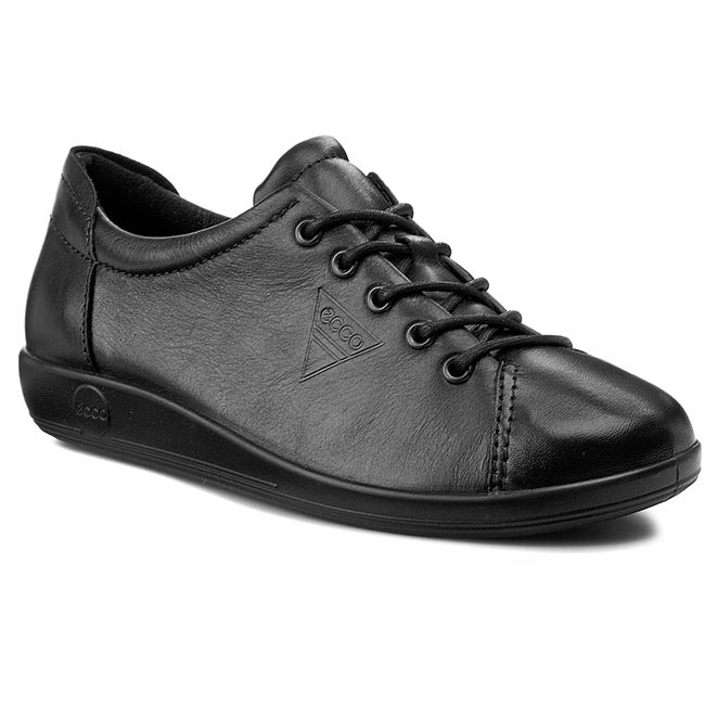 Poltopánky ECCO - Soft 2.0 20650356723  Black With Black Sole