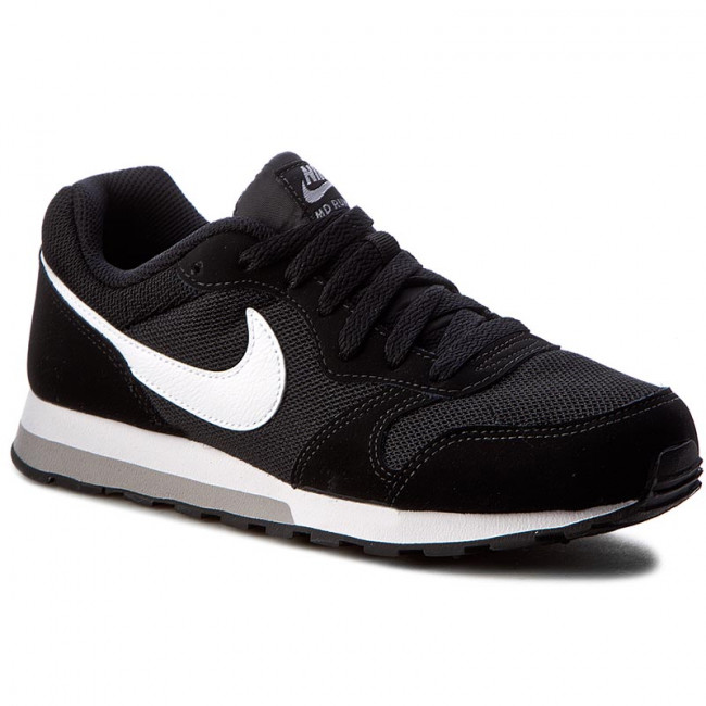 Topánky NIKE - Md Runner 2 (GS) 807316 001 Black/White/Wolf Grey