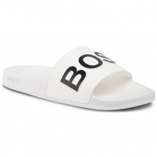 Šľapky BOSS - Bay 50425152 10224455 01 White 100
