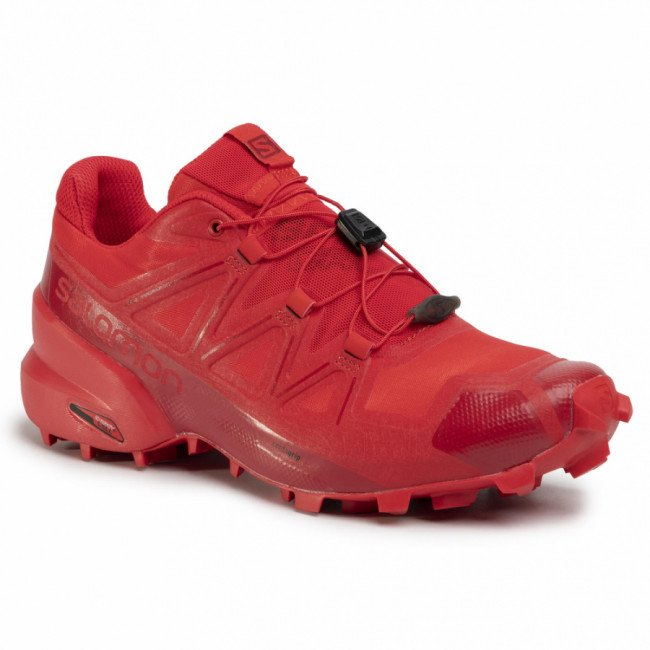 Topánky SALOMON - Speedcross 5 406843 27 G0  High Risk Red/Barbados Cherry/Barbados Cherry