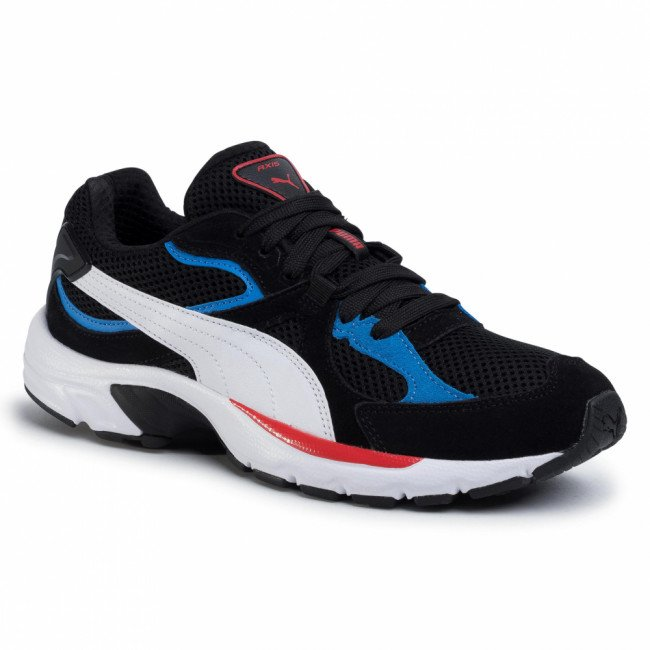 Sneakersy PUMA - Axis Plus SD 370286 08 Black/White/Palace Blue/Red