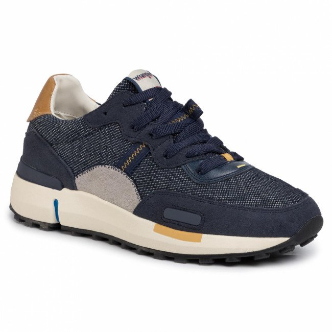 Sneakersy WRANGLER - Iconic 70 Denim WM01123A  Blue Japan 559