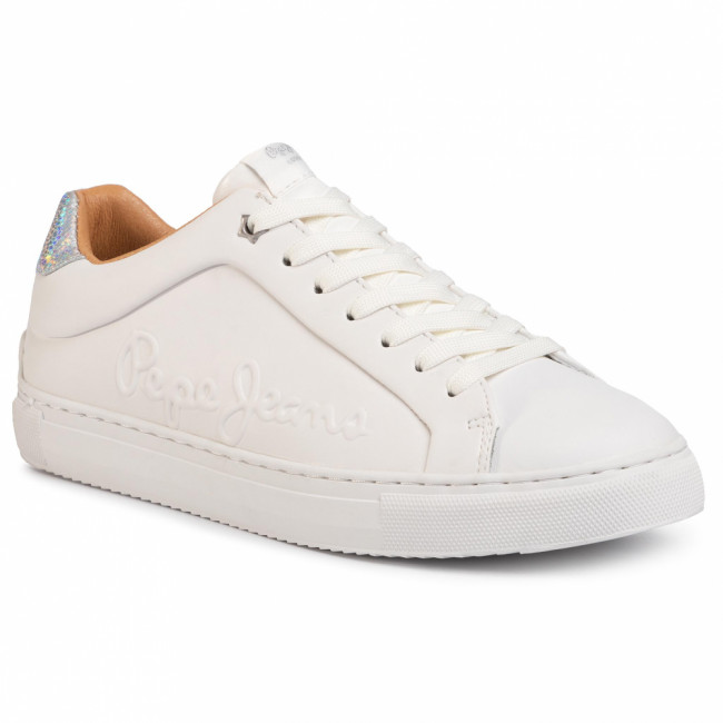 Sneakersy PEPE JEANS - Adams Logo PLS30960 White 800