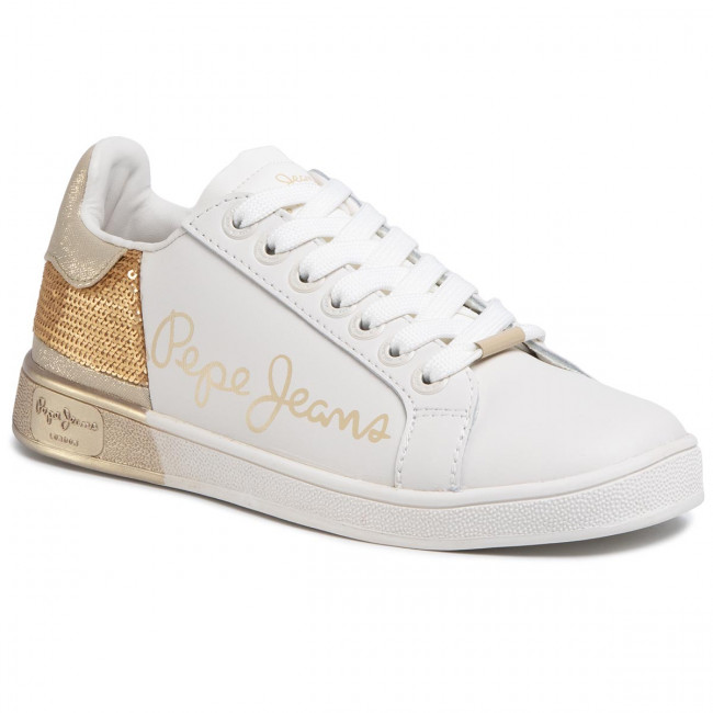Sneakersy PEPE JEANS - Brompton Sequins PLS30965  Gold 099