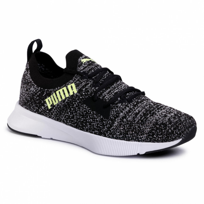 Topánky PUMA - Flyer Runner Engineer Knit 192790 08 Black/White/Yellow Alert