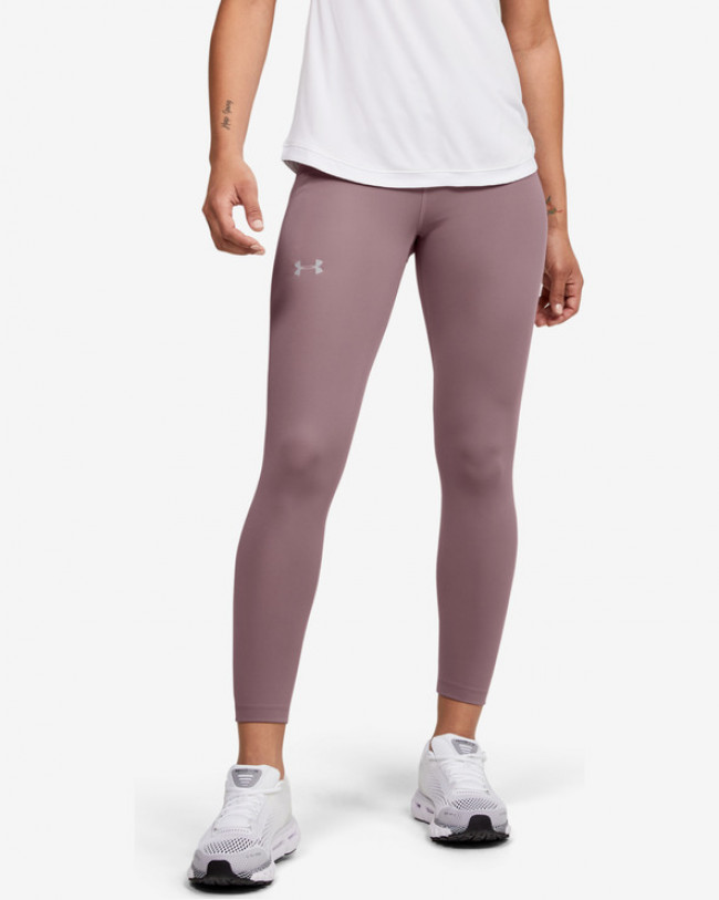 Under Armour Qualifier Speedpocket Perforated Legínsy Ružová Hnedá