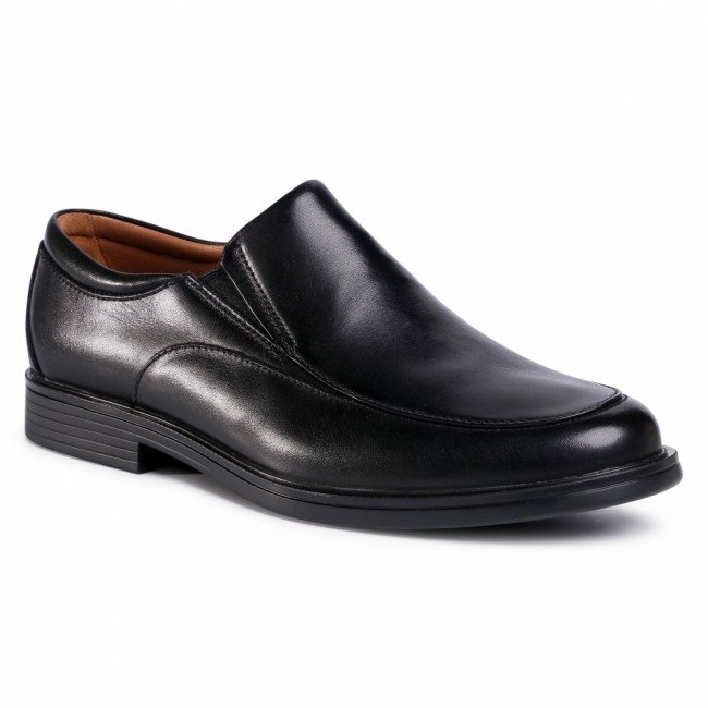 Poltopánky CLARKS - Un Aldric Walk 261373518 Black Leather