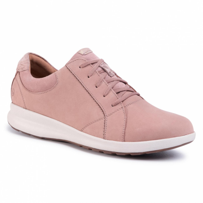 Sneakersy CLARKS - Un Adorn Lace 261487094 Dusty Pink Combi