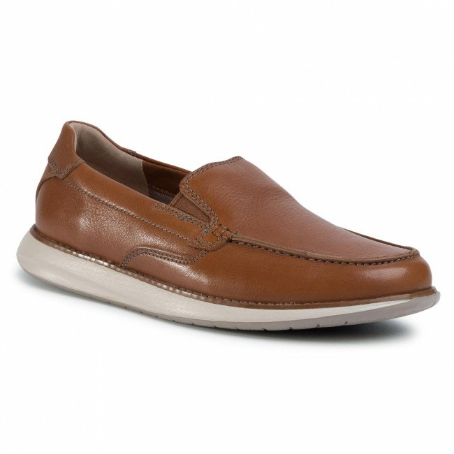 Poltopánky CLARKS - Un Pilot Step 261486647 Tan Leather