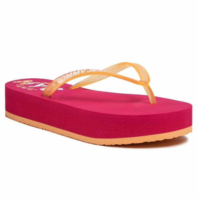 Žabky TOMMY JEANS - Pop Color Mid Beach Sandal EN0EN00853 Blush Red XIF