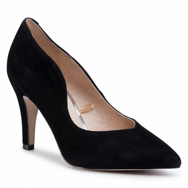 Poltopánky CAPRICE - 9-22403-24 Black Suede 904