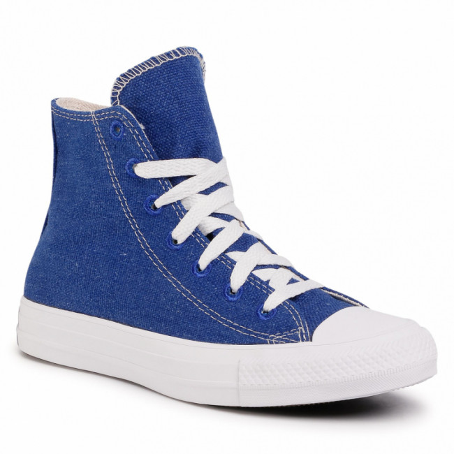 Tramky CONVERSE - Ctas Hi 166741C Rush Blue/Natural/White
