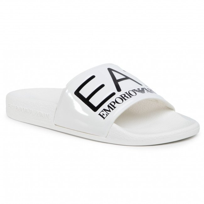 Šľapky EA7 EMPORIO ARMANI - XCP001 XCC22 A222 Shiny White/White Sea World