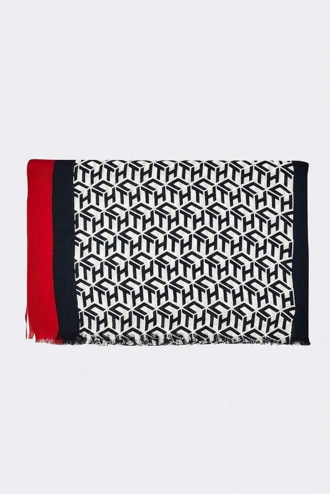 Tommy Hilfiger farebná šatka Iconic Corporate Scarf