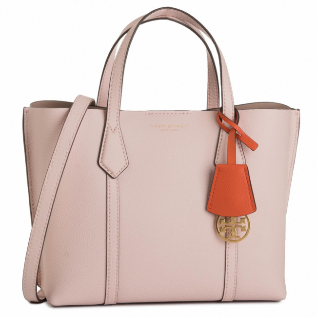 Kabelka TORY BURCH - Perry Small Triple-Compartment Tote 56249 Shell Pink 652