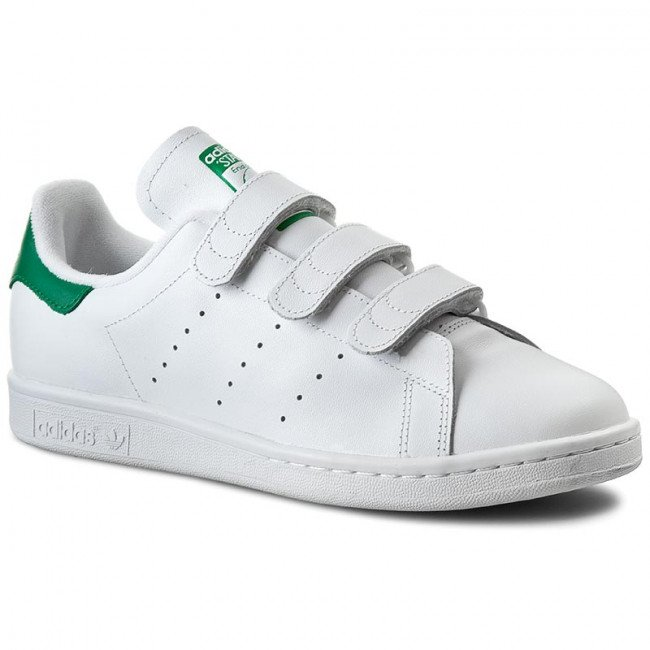 Topánky adidas - Stan Smith CF S75187 Ftwwht/Ftwwht/Green