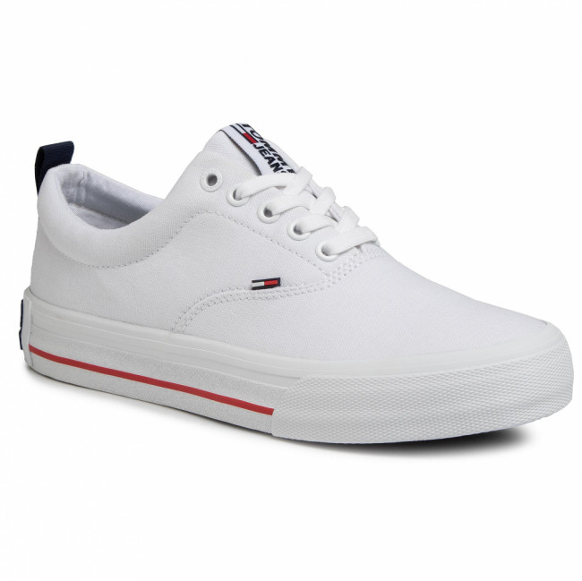 Tenisky TOMMY JEANS - Classic Low Tommy Jeans Sneaker EM0EM00405 White YBS