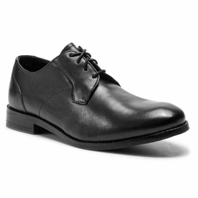 Poltopánky CLARKS - Edward Plain 261395347 Black Leather