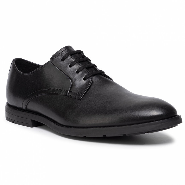 Poltopánky CLARKS - Ronnie Walk 261438107 Black Leather 261438107