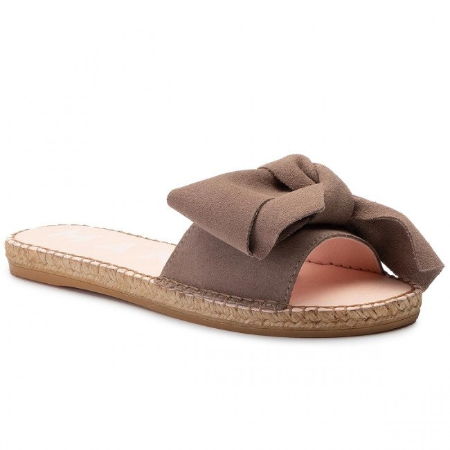 Espadrilky MANEBI - Sandals With Bow K 1.9 J0 Taupe Suede