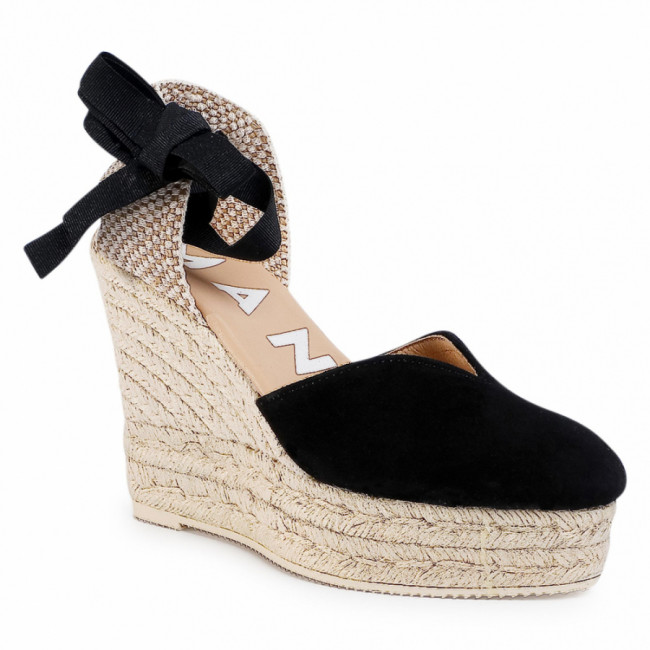 Espadrilky MANEBI - Heart Shape Wedges K 1.0 WH  Black