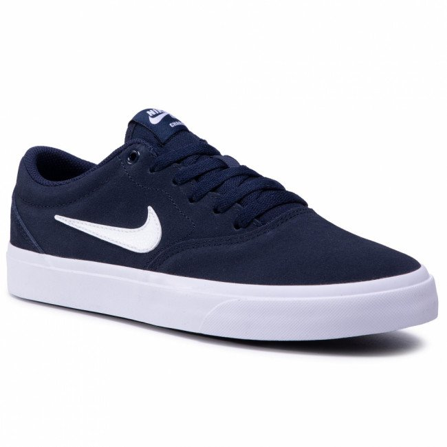 Topánky NIKE - Sb Charge Suede (Gs) CT3112 400 Obsidian/White/Obsidian/Black