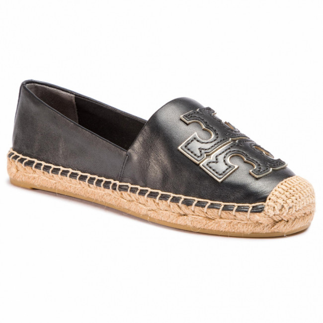 Espadrilky TORY BURCH - Ines Espadrille 52035 Perfect Black/Perfect Black/Silver 013